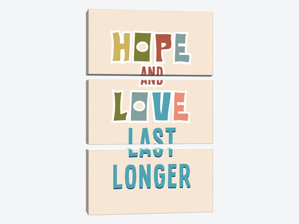 Hope And Love by Delores Naskrent 3-piece Canvas Print