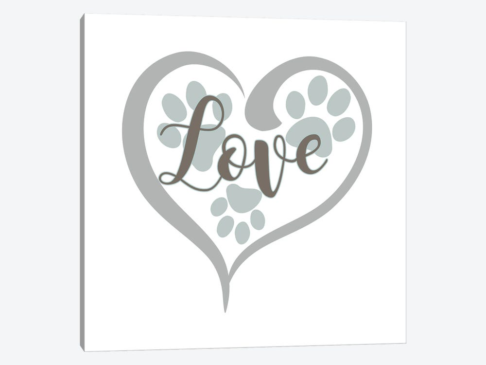 Love with Paws by Delores Naskrent 1-piece Canvas Wall Art
