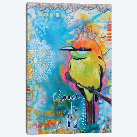 Choose To Fly Canvas Print #DNB1} by Denise Braun Canvas Art