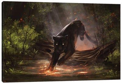 Fire Jaguar Canvas Art Print