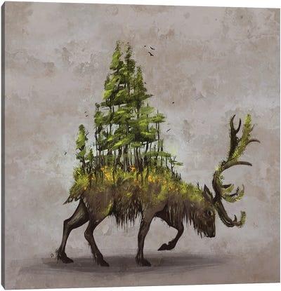 Forest Deer Canvas Art Print