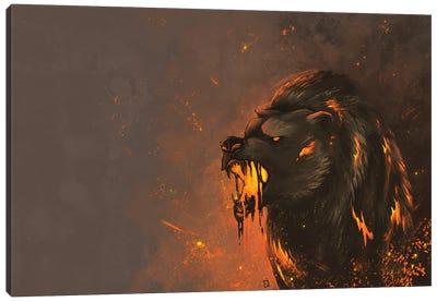 Lava Bear Canvas Art Print