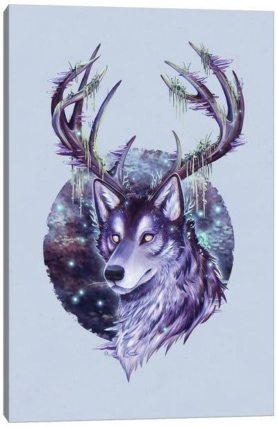 Night Forest Guardian Canvas Art Print