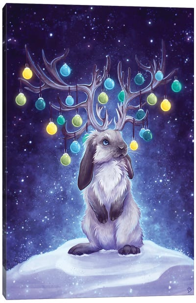 Winter Jackalope Canvas Art Print