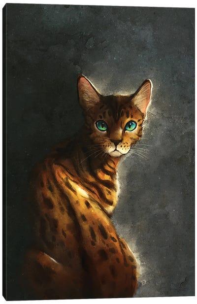 Bengal Cat Canvas Art Print
