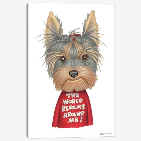 Yorkshire Terrier Revolves Around Me Canvas Print #DNG100} by Danny Gordon Canvas Wall Art