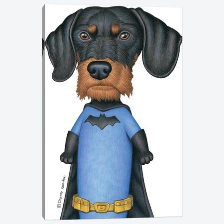 Dachshund Batman 3-Piece Canvas #DNG101} by Danny Gordon Canvas Art