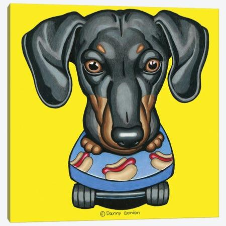 Dachshund Hotdog Skateboard Canvas Print #DNG132} by Danny Gordon Canvas Print