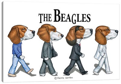 The Beagles Canvas Art Print