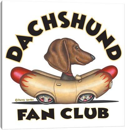 Dachshund Wiener Car Fan Club Canvas Art Print