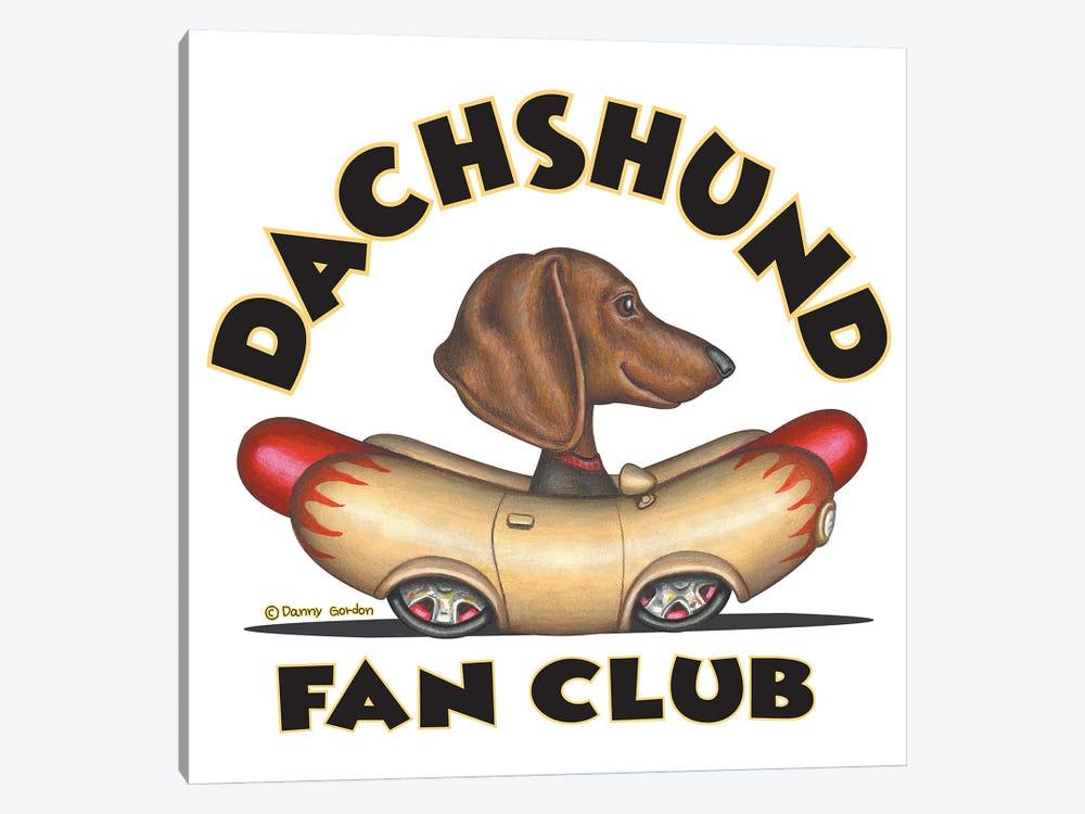 Dachshund Wiener Car Fan Club by Danny Gordon 1-piece Canvas Artwork