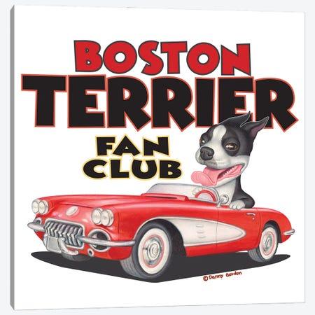 Boston Terrier Corvette Fan Club Canvas Print #DNG180} by Danny Gordon Canvas Art