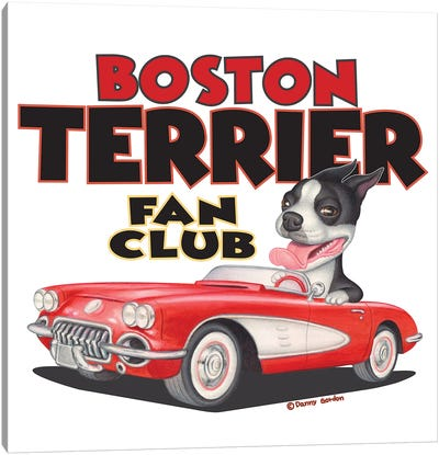 Boston Terrier Corvette Fan Club Canvas Art Print