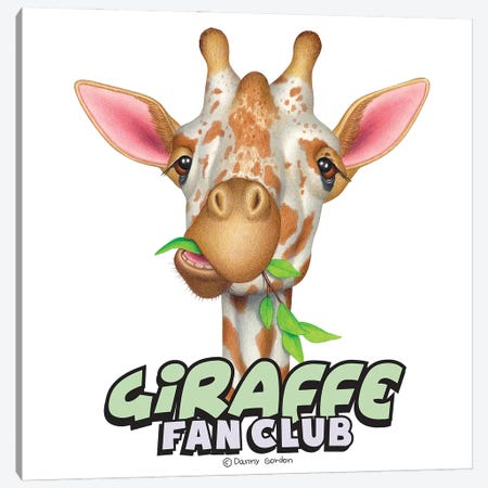 Giraffe Fan Club Canvas Print #DNG183} by Danny Gordon Canvas Art