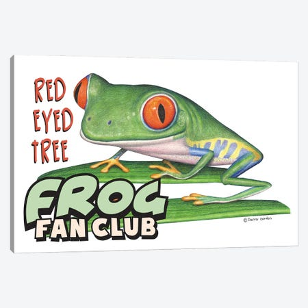 Red Eyed Tree Frog Fan Club Canvas Print #DNG186} by Danny Gordon Canvas Art Print