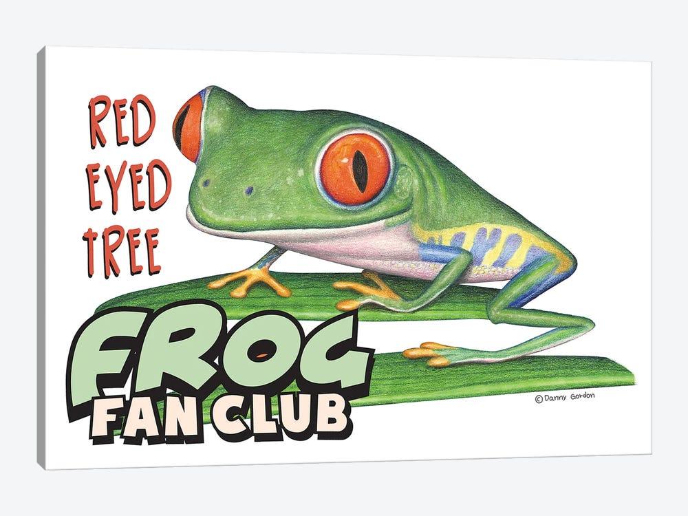 Red Eyed Tree Frog Fan Club by Danny Gordon 1-piece Canvas Art Print