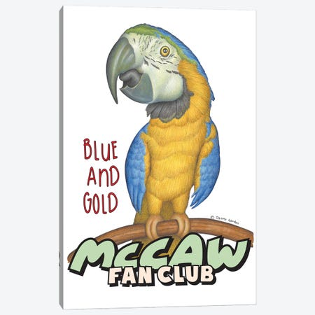 Blue and Gold McCaw Fan Club Canvas Print #DNG187} by Danny Gordon Art Print