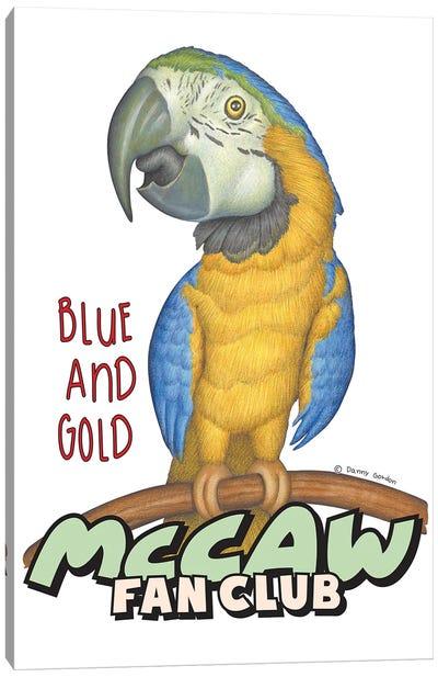 Blue and Gold McCaw Fan Club Canvas Art Print