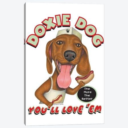 Dachshund Hotdog Salesdog Canvas Print #DNG190} by Danny Gordon Art Print