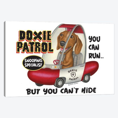 Dachshund Doxie Patrol Canvas Print #DNG192} by Danny Gordon Canvas Art Print