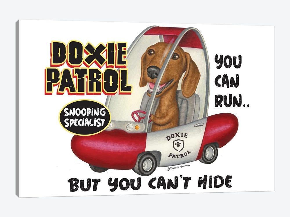Dachshund Doxie Patrol by Danny Gordon 1-piece Canvas Wall Art