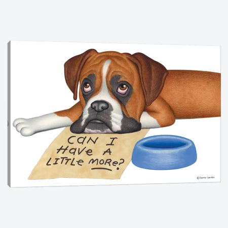 Boxer A Little More? Canvas Print #DNG19} by Danny Gordon Canvas Wall Art