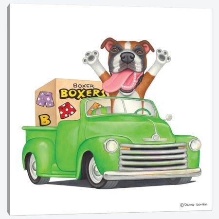Boxer Green Pickup Canvas Print #DNG21} by Danny Gordon Art Print