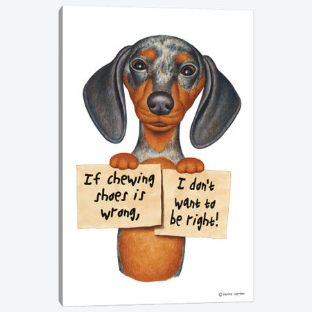 Dachshund I Don't Want To Be Right Canvas Print #DNG45} by Danny Gordon Canvas Artwork
