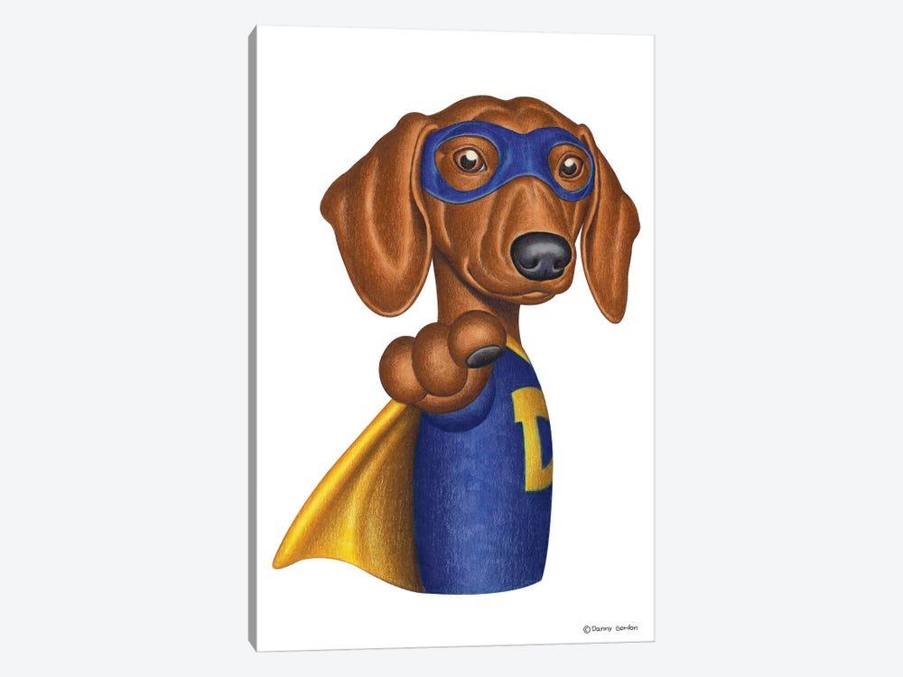 Dachshund Superhero by Danny Gordon 1-piece Canvas Print