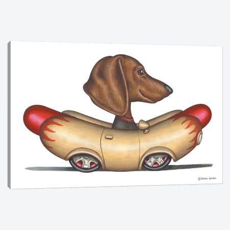 Dachshund Wienermobile 3-Piece Canvas #DNG63} by Danny Gordon Canvas Art Print