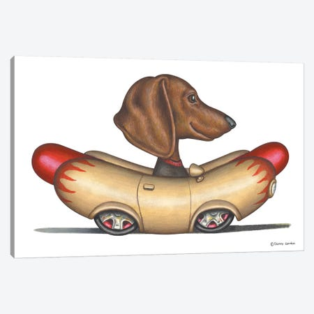 Dachshund Wienermobile Canvas Print #DNG63} by Danny Gordon Canvas Art Print