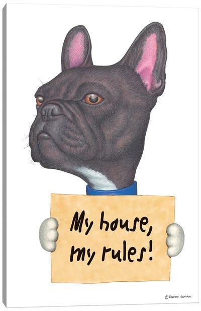 French Bulldog My House Canvas Art Print