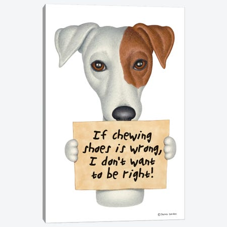 Jack Russell Mix Canvas Print #DNG72} by Danny Gordon Canvas Artwork