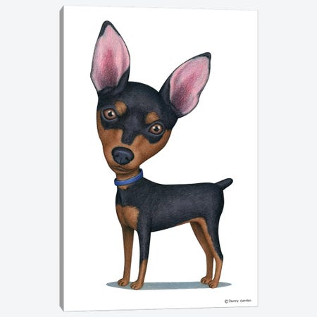 Miniature Pinscher Canvas Print #DNG83} by Danny Gordon Canvas Print