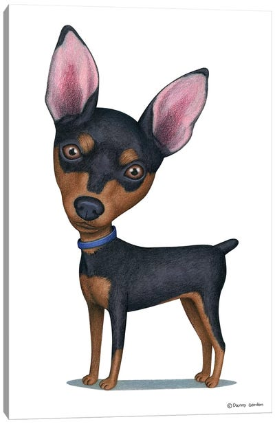 Miniature Pinscher Canvas Art Print