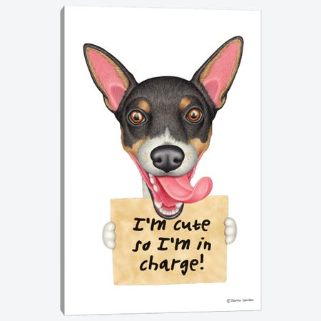 Rat Terrier Canvas Print #DNG87} by Danny Gordon Canvas Art