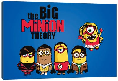 The Big Minion Theory Canvas Art Print