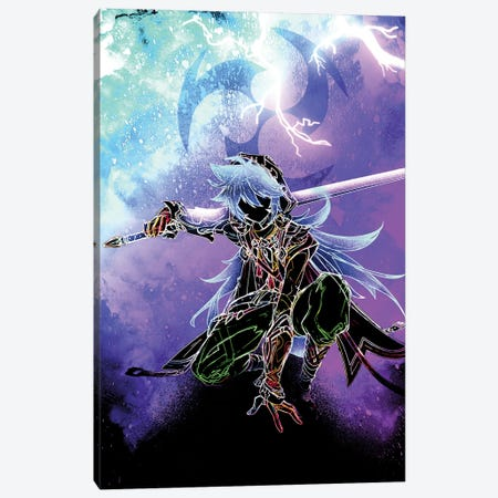 Soul Of The Electro Wolf Canvas Print #DNI120} by Donnie Art Canvas Print