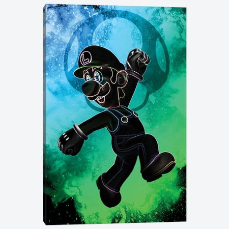 Soul Of The Green Plumber Canvas Print #DNI122} by Donnie Art Canvas Art Print
