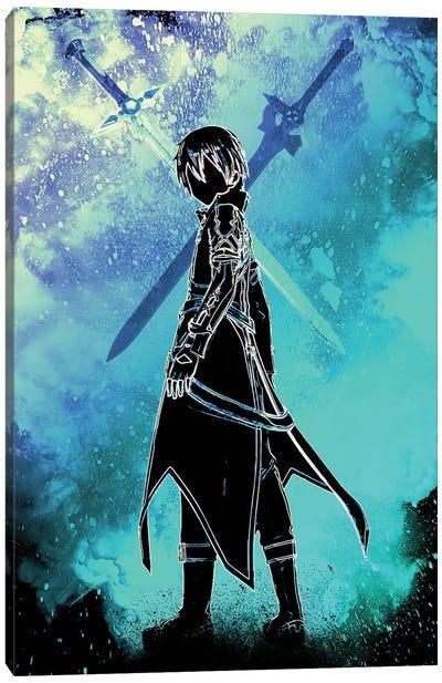 Soul Of The Black Swordman Canvas Art Print