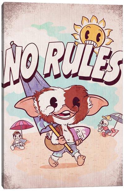 No Rules Canvas Art Print