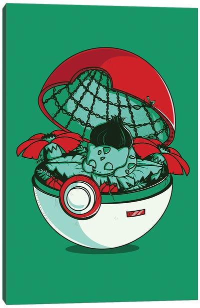 Green Pokehouse Canvas Art Print