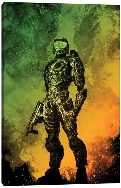 Soul Of The Master Chief Canvas Art Print