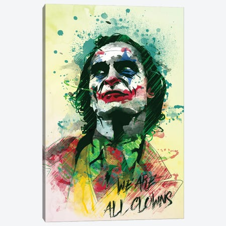 Smile In Watercolor Canvas Print #DNI36} by Donnie Art Art Print