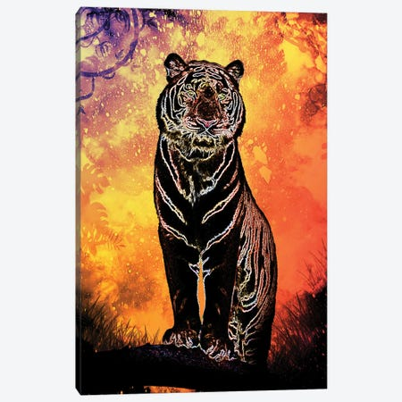 Soul Of The Tiger Canvas Print #DNI39} by Donnie Art Canvas Art