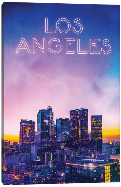 Sunset Time In LA Canvas Art Print