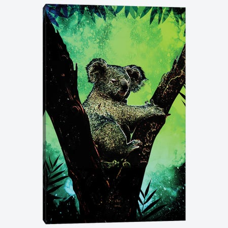 Soul Of The Koala Canvas Print #DNI40} by Donnie Art Canvas Print