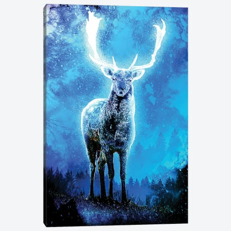 Soul Of The Deer Of Light Canvas Print #DNI41} by Donnie Art Canvas Art Print