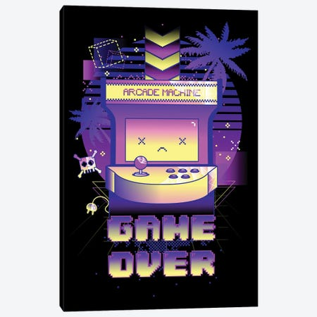 Game Over Canvas Print #DNI47} by Donnie Art Canvas Artwork