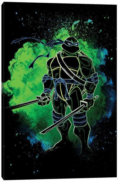 Soul Of The Blue Turtle Canvas Art Print
